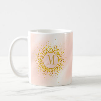 Confetti Monogram Rose Gold Foil ID445 Coffee Mug