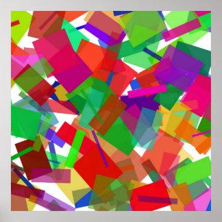 Confetti Multicolor Poster