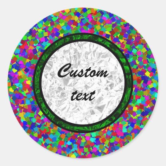 Confetti - Multicolored Classic Round Sticker