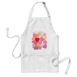 Confetti of hearts standard apron