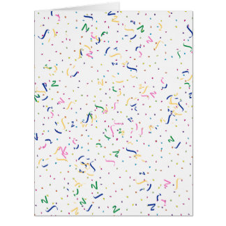 Confetti on Blank (Add A Background  Color) Card