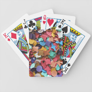 Confetti Party Carnival Colorful Paper Funny Bicycle Playing Cards