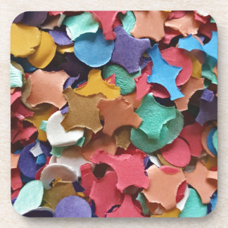 Confetti Party Carnival Colorful Paper Funny Coaster