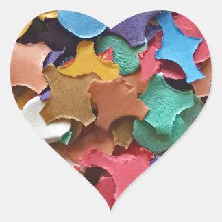 Confetti Party Carnival Colorful Paper Funny Heart Sticker