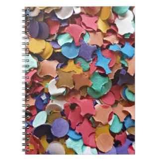 Confetti Party Carnival Colorful Paper Funny Notebook