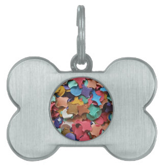 Confetti Party Carnival Colorful Paper Funny Pet Name Tag