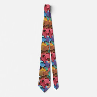 Confetti Party Carnival Colorful Paper Funny Tie