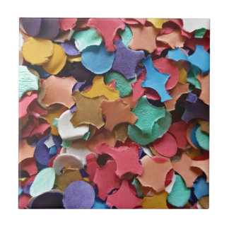 Confetti Party Carnival Colorful Paper Funny Tile