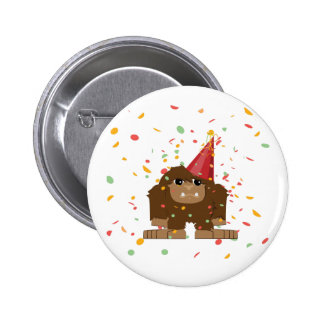 Confetti Party Sasquatch Bigfoot 2 Inch Round Button