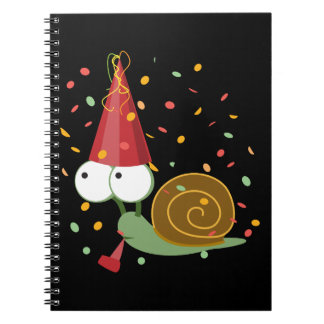 Confetti Party Snail Spiral Note Book