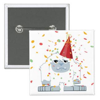 Confetti Party Yeti 2 Inch Square Button