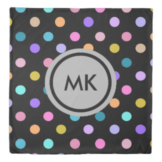 Confetti polka dots duvet cover