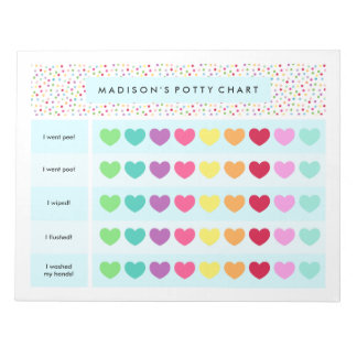 Confetti Potty Cart Notepads