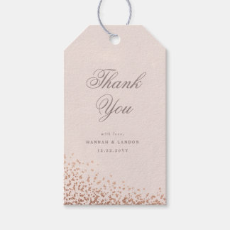 Confetti shimmer faux foil wedding favor gift tag