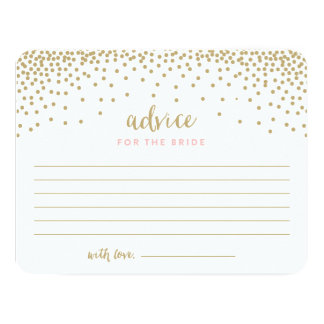 Confetti Shower | Bridal Shower Advice Cards
