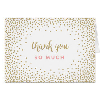 Confetti Shower | Thank You Note Card