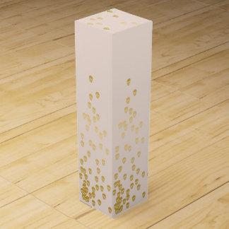Confetti Skulls - champagne and gold Wine Gift Box