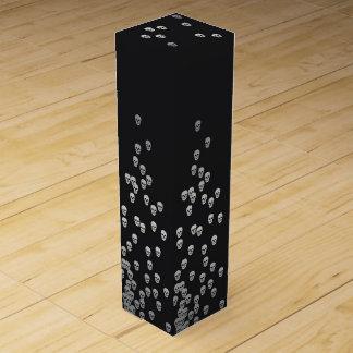 Confetti Skulls - nightshade and silver Wine Box