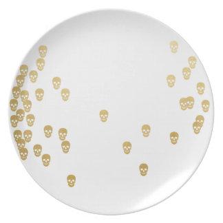 Confetti Skulls Plate
