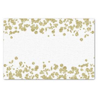 Confetti Sparkle Shine Rose Gold Wedding Tissue Paper