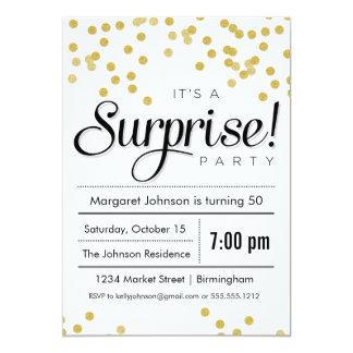 Surprise Party - Confetti Surprise Party Invitation