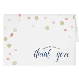 Confetti Thank You Card in Navy