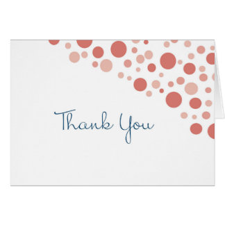 Confetti Thank You Coral Card
