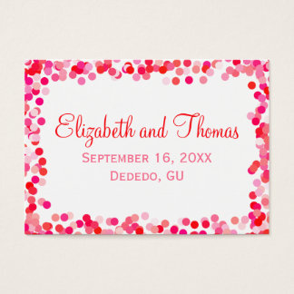 Confetti Wedding Place Cards