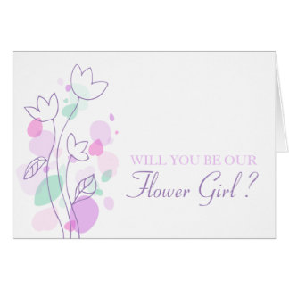 Confetti wedding will you be our flower girl card
