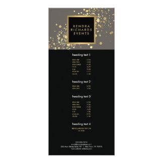 Confettis d'or de Faux sur la carte grise moderne Cartes Doubles