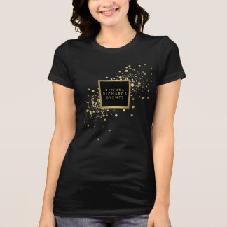 Confettis d'or de Faux T-shirt