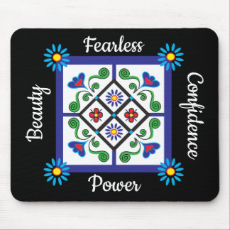Confidence Beauty Fearless Power Women's Mouse Pad
