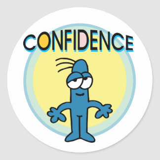 Confidence Classic Round Sticker