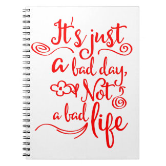 Confidence, Happiness Attitude Life Success Quote Spiral Notebook