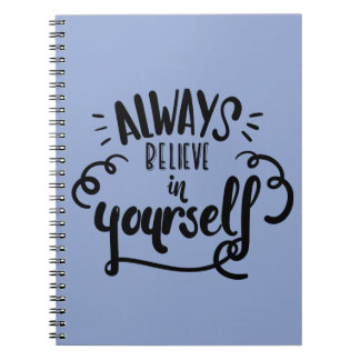 Confidence, Happiness Attitude Motivational Quote Spiral Notebook