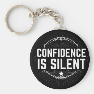 confidence is silent keychain