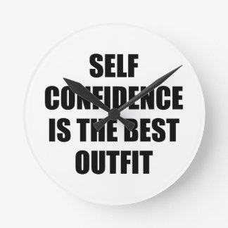 Confidence Outfit Round Clock