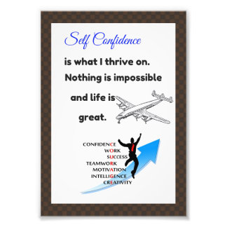 Confidence posters, confidence cards photo print