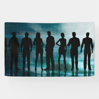 Confident Business Team of Professionals in Suits Banner