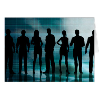 Confident Business Team of Professionals in Suits Card