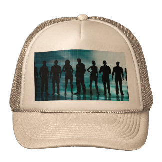 Confident Business Team of Professionals in Suits Trucker Hat