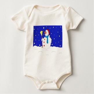 Confident-Snow-Man-Scene Baby Bodysuit