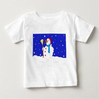 Confident-Snow-Man-Scene Baby T-Shirt