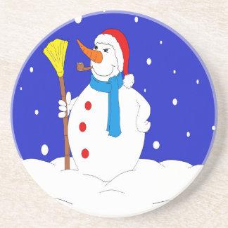 Confident-Snow-Man-Scene Coaster
