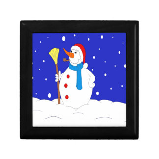 Confident-Snow-Man-Scene Gift Box