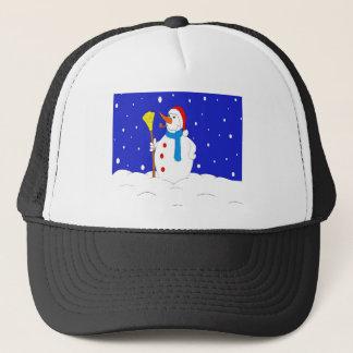Confident-Snow-Man-Scene Trucker Hat