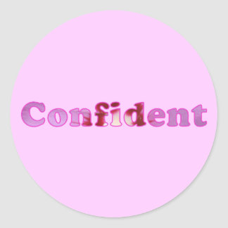 Confident spelled with pink flowers Stickers