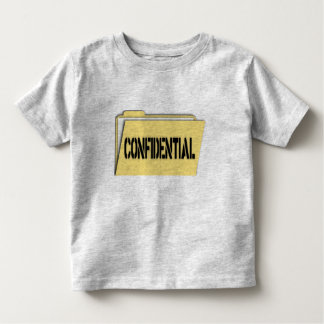 Confidential Folder With Paper Toddler T-shirt