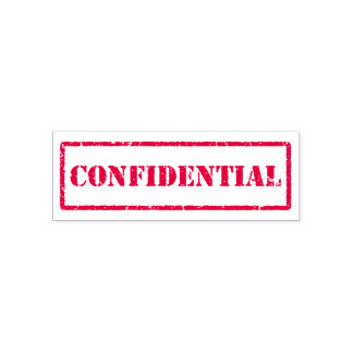 Confidential rubber stamp - worn, distressed