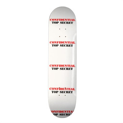 Confidential Skateboard Deck